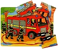 Tray Puzzle Fire Engine (9 piece)