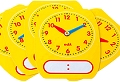 Pupils Dry-Wipe 12 Hour Clock Faces (Set 5)