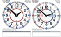 Pupils EasyRead Double Sided Dry Wipe Clocks (Set 10)