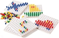 Stackable Pegs & Boards (Set 1000 pegs & 5 boards)