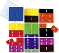 Pupils Printed Fraction Square Set (51 pieces)