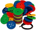 Round Lacing Buttons 4cm (Set 220 & Laces)