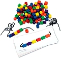 Wooden Attribute Bead Set (2 Laces, 20 Work Cards, 108 Beads & Teaching Notes)