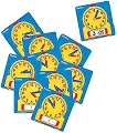 Pupils Dry-Wipe 12 Hour Clock Faces (Set 10)
