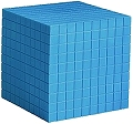 Non-Linking Base Ten Cube/Thousand Blue