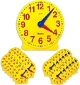 Classroom Synchronised Clock Set (12 Hour Demo Clock & 24 Pupils Clocks)