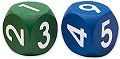 Foam Number Dice 1-6 40mm (Set 2)