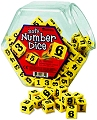 Foam Number Dice 1-6 18mm Yellow (Set 200)