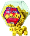 Foam 6 Dot Dice 18mm Yellow (Set 200)