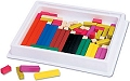 Wooden Cuisenaire Rods Smooth (Activity guide & 74 rods)