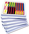 Plastic Cuisenaire Rods Smooth (Activity guide & 444 rods)