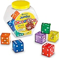 Jumbo 6 Dot Dice in Dice 30mm Assorted Colours (Set 12)