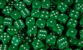 6 Dot Dice 18mm Green (Set 10)