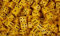 6 Dot Dice 18mm Yellow (Set 10)