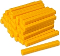Non-Linking Base Ten Rods/Tens Yellow (Set 50)