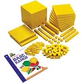 Non-Linking Base Ten Student Set Yellow (Set 221 & Guide)
