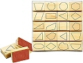 2D Geomtric Shape Stampers (Set 20)