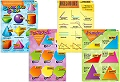 "Geometry Laminated Dry-Wipe Wall Charts 20"" x 28"" (Set 4)"