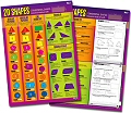 "2D Shapes Double-Sided Laminated Dry-Wipe Wall Chart 20"" x 28"""