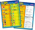 "3D Shapes Double-Sided Laminated Dry-Wipe Wall Chart 20"" x 28"""