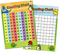 "100 Square Counting Double-Sided Laminated Dry-Wipe Wall Chart 20"" x 28"""