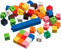 1cm Linking Cubes Assorted Colours (Tub 1000)