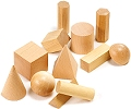 Wooden Geometric Solids (Set 12)