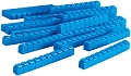Linking Base Ten Rods/Tens Blue (50 pieces)