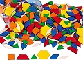 Plastic Pattern Blocks Solid 0.5cm (Tub 250)