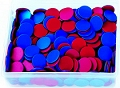 Round Counters 2-Coloured Red/Blue 25mm (Tub 400)