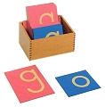 Sandpaper Letters, Lower Case Print with Box