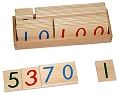 Small Wooden Number Cards with Box 1-9000